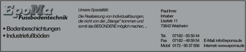 EpoMa Fußbodentechnik Inh. Paul Imre