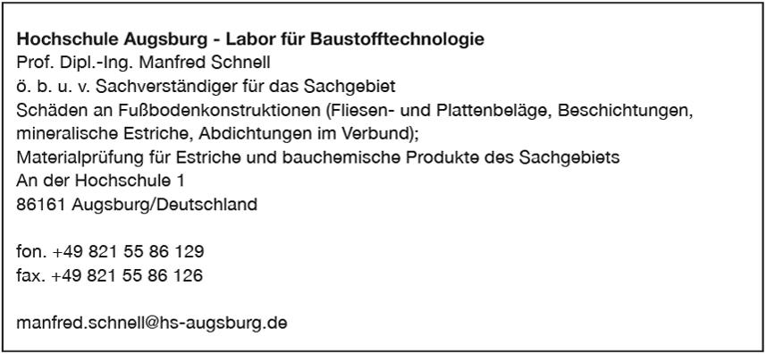 Hochschule Augsburg- Labor für Baustofftechnologie