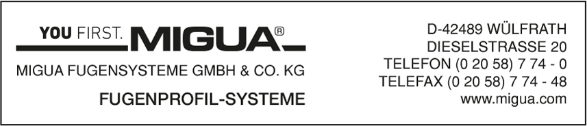 MIGUA FUGENSYSTEME GmbH & Co.KG